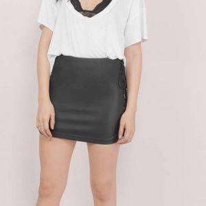 Tobi Drifter Black Lace Up Mini Skirt Tobi